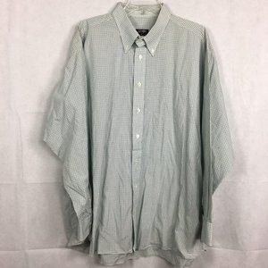 Gitman Bros Green Plaid Cotton Dress Shirt Sz XXL